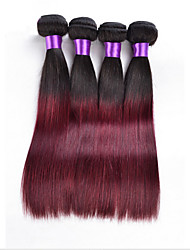 Âmbar Cabelo Peruviano Retas 18 Meses 3 Peças tece cabelo