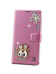 Для Кейс для Huawei / P9 / P9 Lite Кошелек / Бумажник для карт / Стразы Кейс для Чехол Кейс для 3D в мультяшном стиле Твердый