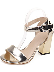 Women's Shoes Chunky Heel Open Toe Slingback Ankle Strap Sandals More Color Available Rose Gold