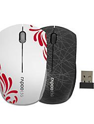 orginal rapoo 3300p 5.8ghz mini-portable de la souris sans fil pour ordinateur pc portable souris enfants noir / blanc