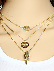 Necklace Pendant Necklaces Jewelry Wedding / Party / Daily / Casual Alloy Gold 1pc Gift
