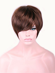 Europe And The United States With Dark Brown 4 inch Nylon Hair Wigs