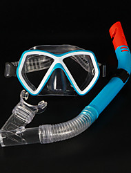 Máscaras de mergulho Two-Window Unissex PVC / Silicone Azul / Preta-other