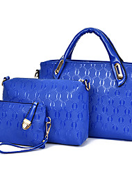 Women PU Formal / Casual / Office & Career / Shopping Tote / Bag Sets White / Purple / Blue / Gold / Red / Black