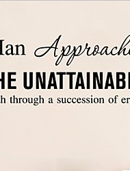 Man Approaches The Unattainable Truth Through A Succession Of Errors 57*25Cm Wall Stickers