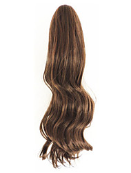 Curly Light Brown Synthetic Long Curly Hair Claw Clip Wig Ponytail