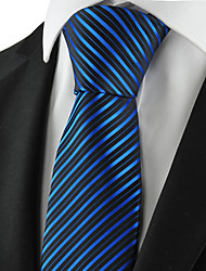KissTies Men's Striped Microfiber Tie Necktie Formal Wedding Party Holiday With Gift Box (3 Colors Available)