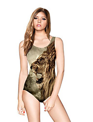 FuLang swim One-Piece Suits   Paige  Thin   sexy backless   Lion print  SC082