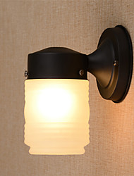 Retro Simplicity Frosted Glass Wall Lights Metal Base Cap Dining Room Cafe Bars Bar Table Hallway light Fixture
