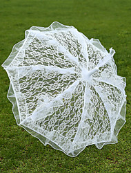White Lace Wedding Unmbrellas for Bridal Parasols(57cm)