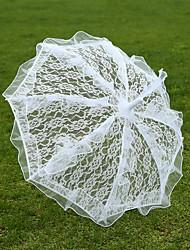 Hochzeit Spitzen Regenschirm ca.58cm Metall ca.58cm