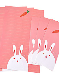 Cartoon stationery suite (3 +3 envelopes letterheads, envelopes letter 8.6*17.6CM, 18.5*26CM, random pattern)