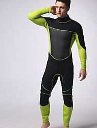 Homens 3mm Mergulho Skins Macacão de Mergulho Longo Impermeável Resistente Raios Ultravioleta Neoprene Tactel Fato de MergulhoRoupas de