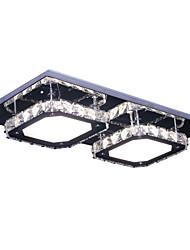 Modern Led Crystal Stainless Steel Ceiling Light Wall Light Flush Mount 2 Lights White Light Living Room Hallway
