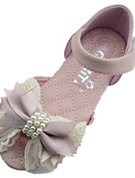 Girl's Sandals Summer Comfort PU Outdoor Flat Heel Pink Ivory