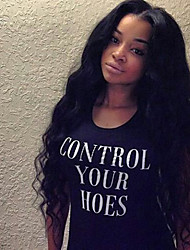 Free Shipping Brazilian Human Hair Lace Front Water Wave Wig for Black Women