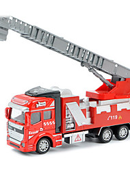 Children's toy car truck 1:48 back of alloy car model toy excavators 1:48 ladders (9PCS)