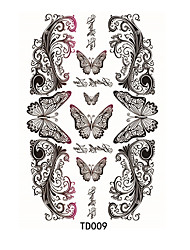 1pcs Tatouages Autocollants Autres Waterproof / 3-DHomme / Femme / Adulte flash Tattoo Tatouages ​​temporaires