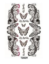 1pcs Tatouages Autocollants Autres Waterproof / 3-DHomme / Femme / Adulte flash Tattoo Tatouages temporaires