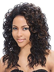 Evawigs Free Shipping Brazilian Human Virgin Hair Black Lace Front Wig Curly Wig