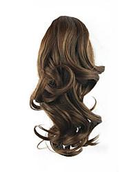 длина коричневый парик 34см цвет синтетический фигурная высокая температура проволоки захватами хвощ волос 2/33