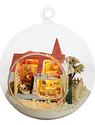 chi divertido hut diy casas de sonho lolita pequena casa modelo montado à mão presente de aniversário criativo