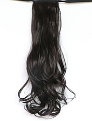 Black Length 50CM The New Belt Type Long Curly Wig Horsetail Hair fake Ponytail(Color 99J)