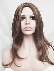 Europa y los Estados Unidos con lino viejas pelucas de pelo de nylon 18 pulgadas naturales de mediana edad y