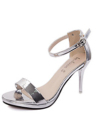 Women's Shoes PU Stiletto Heel Heels / Peep Toe Sandals Office & Career / Party & Evening / Casual Silver / Gold