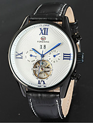 FORSINING Men's Roman Numerals Leather With Automatic Mechanical Watches