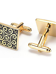 Men's Fashion Vintage Gold Alloy French Shirt Cufflinks (1-Pair)
