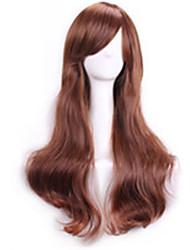 marrone chiaro ondulate parrucche sexy ricci naturali realistici parrucche parrucche cosplay Perruque economici parrucche sintetiche dei