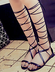 Women's Shoes Flat Heel Open Toe Sandals Dress Black