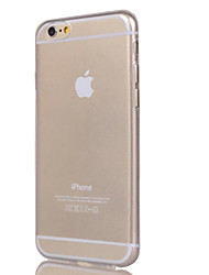 Para Funda iPhone 7 / Funda iPhone 7 Plus / Funda iPhone 6 / Funda iPhone 6 Plus Transparente Funda Cubierta Trasera Funda Un Color Suave