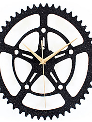 Flash Black Sand Wall Clock Gear