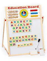 Multifunctional Magnetic Writing Board, Magnetic Double Wooden Study the Blackboard, Children's Educational Toys