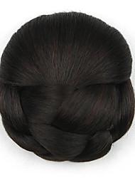 excêntricas encaracolados chignons marrom europa noiva cabelo humano sem tampa perucas dh102 2/33