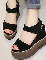 Women's Shoes Wedge Heel Open Toe Sandals Dress Black/Gray