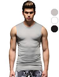 Vansydical Homme Séchage rapide Fitness Hauts/Tops Blanc / Gris / Noir