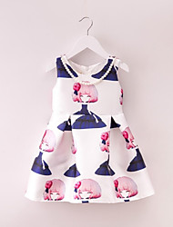 Girl's Multi-color Dress,Floral Cotton Summer / Spring / Fall