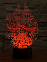 Holiday Lamp 3D Bulbing Light Gear Shape Millennium Falcon Star Wars Light Color Changing Led Night Light
