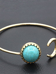 Green Stone Natural CUff Bangle