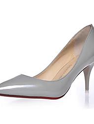 Damen-High Heels-Lässig-PU-Stöckelabsatz-Absätze-Schwarz / Rosa / Grau