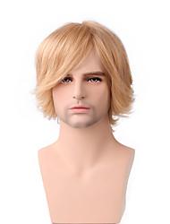 de los hombres corto recto hermoso del pelo natural de 10 pulgadas