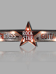 E-HOME® Metal Wall Art LED Wall Decor,ROCK STAR LED Wall Decor One PCS