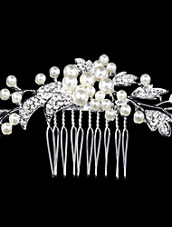 9*6cm Hair Combs with Pearl Crystal for Lady Wedding Party Hair Jewelry