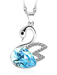 Women's Pendant Necklaces Pendants Crystal Animal Shape Swan Crystal Austria Crystal Fashion Luxury European Jewelry For Daily Casual 1pc