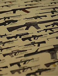World Famous Gun Posters Decorative Painting 51x35.5cm Paper Posters Wall Sticker