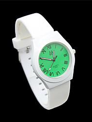 Women's Digital Pointer Silica Strap Cartoon Students Casual Quartz Watches Gift