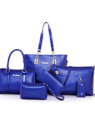 Women PU Formal / Casual / Office & Career / Shopping Tote / Bag Sets Purple / Blue / Red / Black